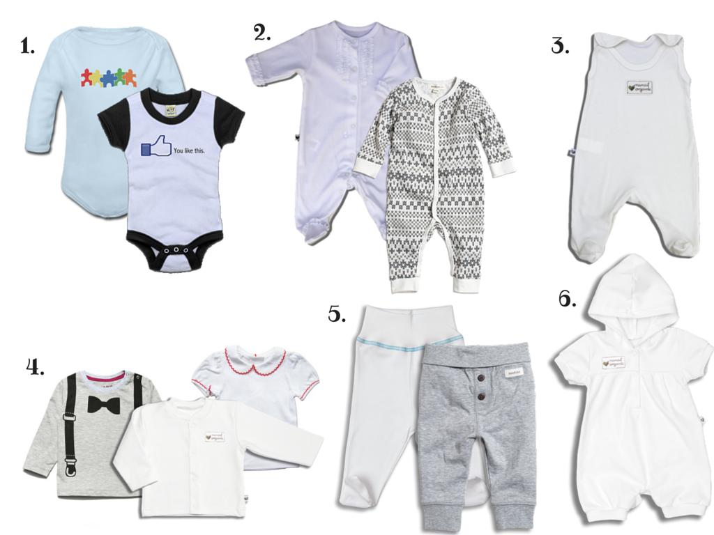 rodzaje ubranek dla niemowląt